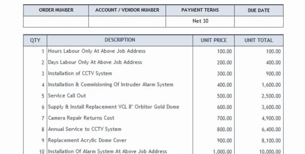 Invoice System Free Invoicing System In Excel And Excel Invoice Intended For Excel Database Template Download