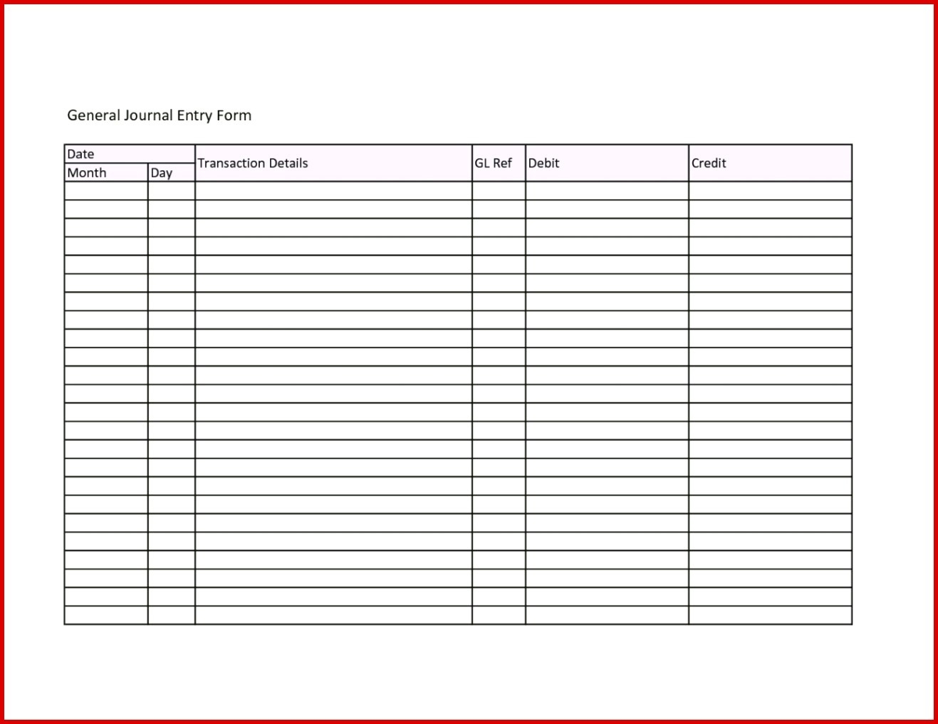 Journal Entry Template | Dreamreach100818B With Accounting Journal Template