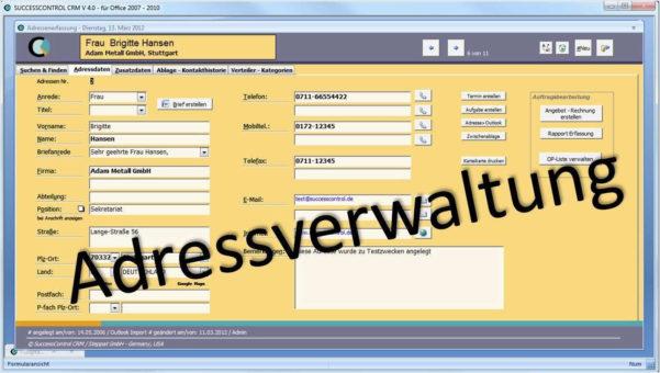 Kundenkartei Excel Vorlage Schön Adressverwaltung • Crm Software In Freeware Crm Excel Template