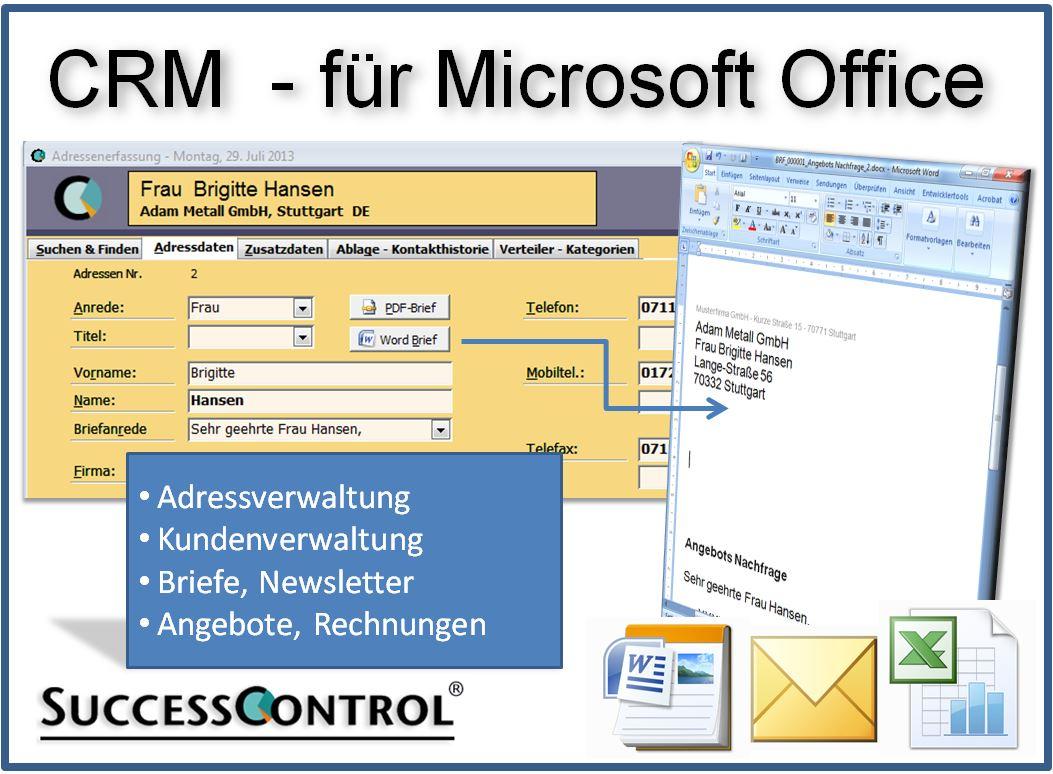 Kundenverwaltung •   Successcontrol   Rechnungsprogramm Mit Crm In Freeware Crm Excel Template