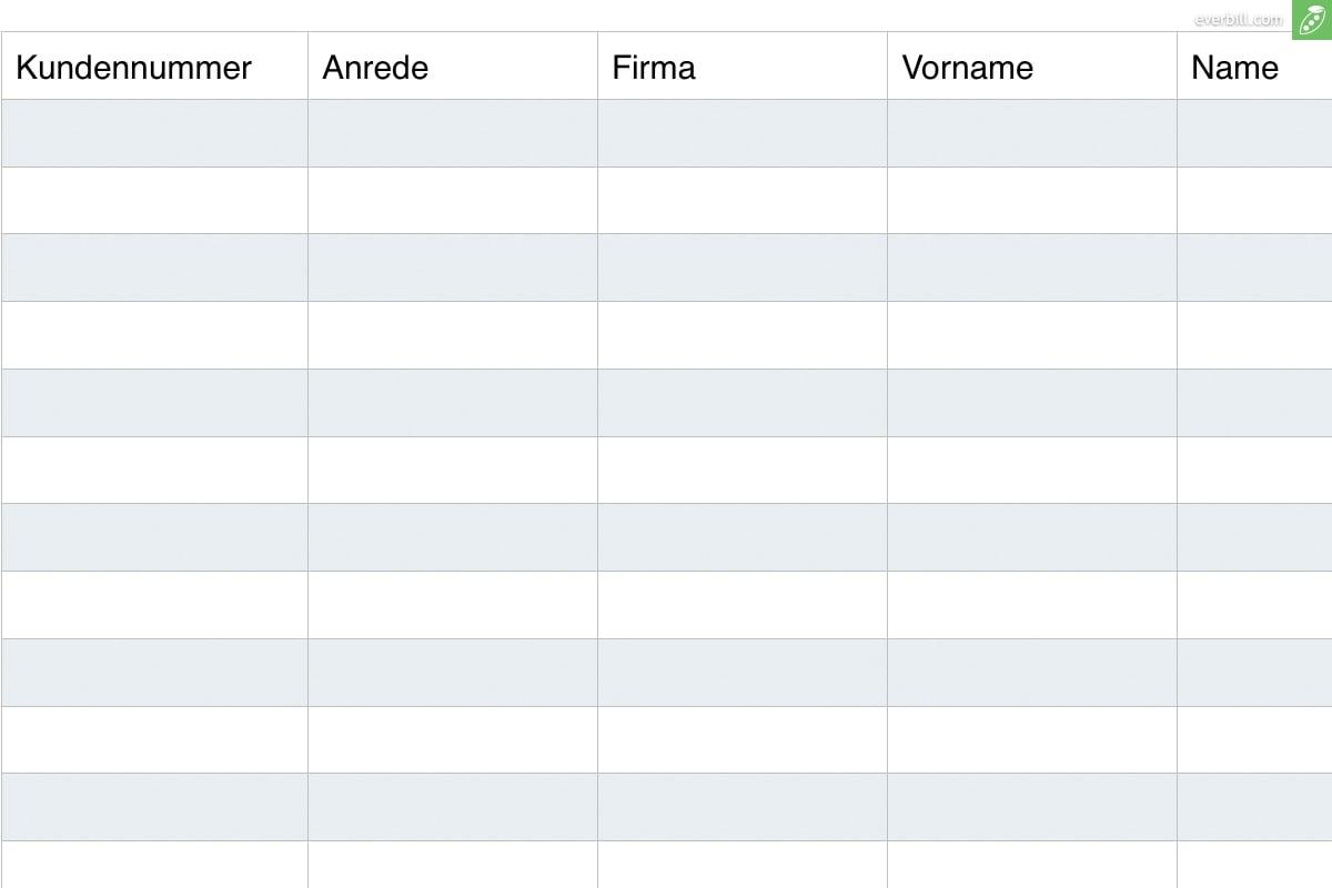 Kundenverwaltung: Kostenlose Excel Vorlage Zum Download   Everbill Within Crm In Excel Template