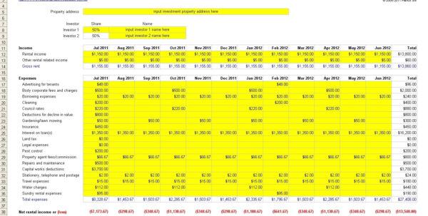 Landlord Expense Spreadsheet Excel | Glasgowfocus Throughout Rental In Landlord Bookkeeping Spreadsheet