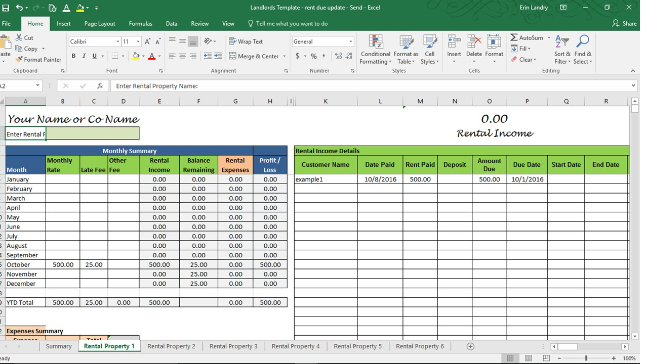 Landlord Spreadsheet Template | Natural Buff Dog With Landlord Bookkeeping Spreadsheet