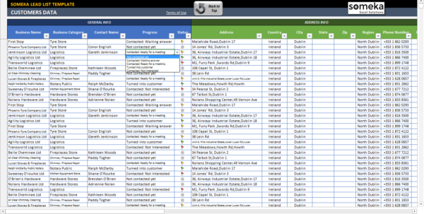 Lead List Excel Template For Small Business | Free   Printable Throughout Excel Crm Templates Free Download