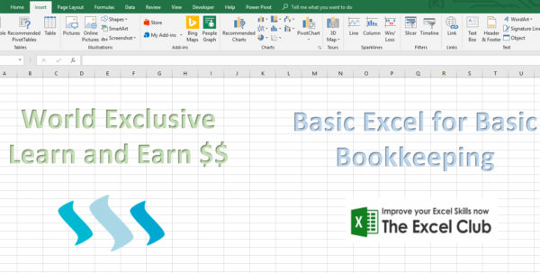 Learn And Earn – Basic Excel For Basic Bookkeeping Week #1 — Steemkr To Bookkeeping In Excel