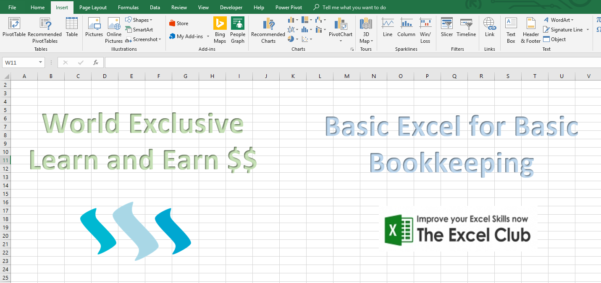 Learn And Earn – Basic Excel For Basic Bookkeeping Week #1 — Steemkr Within Bookkeeping In Excel Tutorial