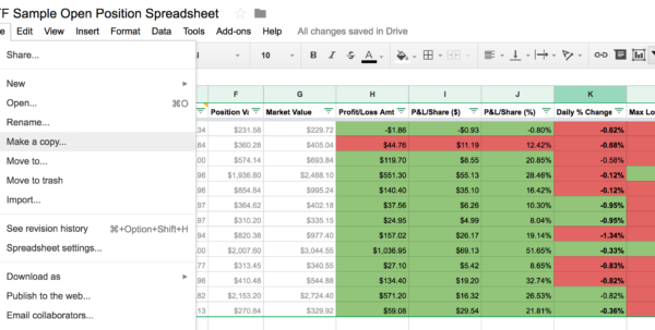 Learn How To Track Your Stock Trades With This Free Google Spreadsheet For Google Spreadsheet Templates