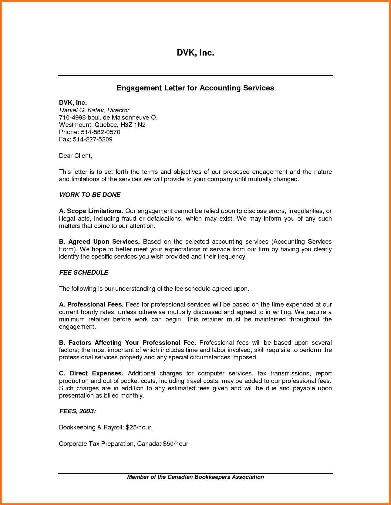 Letter Of Engagement Template Australia Refrence Tax Preparation With Letter Of Engagement Bookkeeping Template Australia