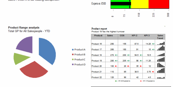 Making A Dynamic Dashboard In Excel [Part 1 Of 4] » Chandoo Inside Kpi Reporting Template Excel