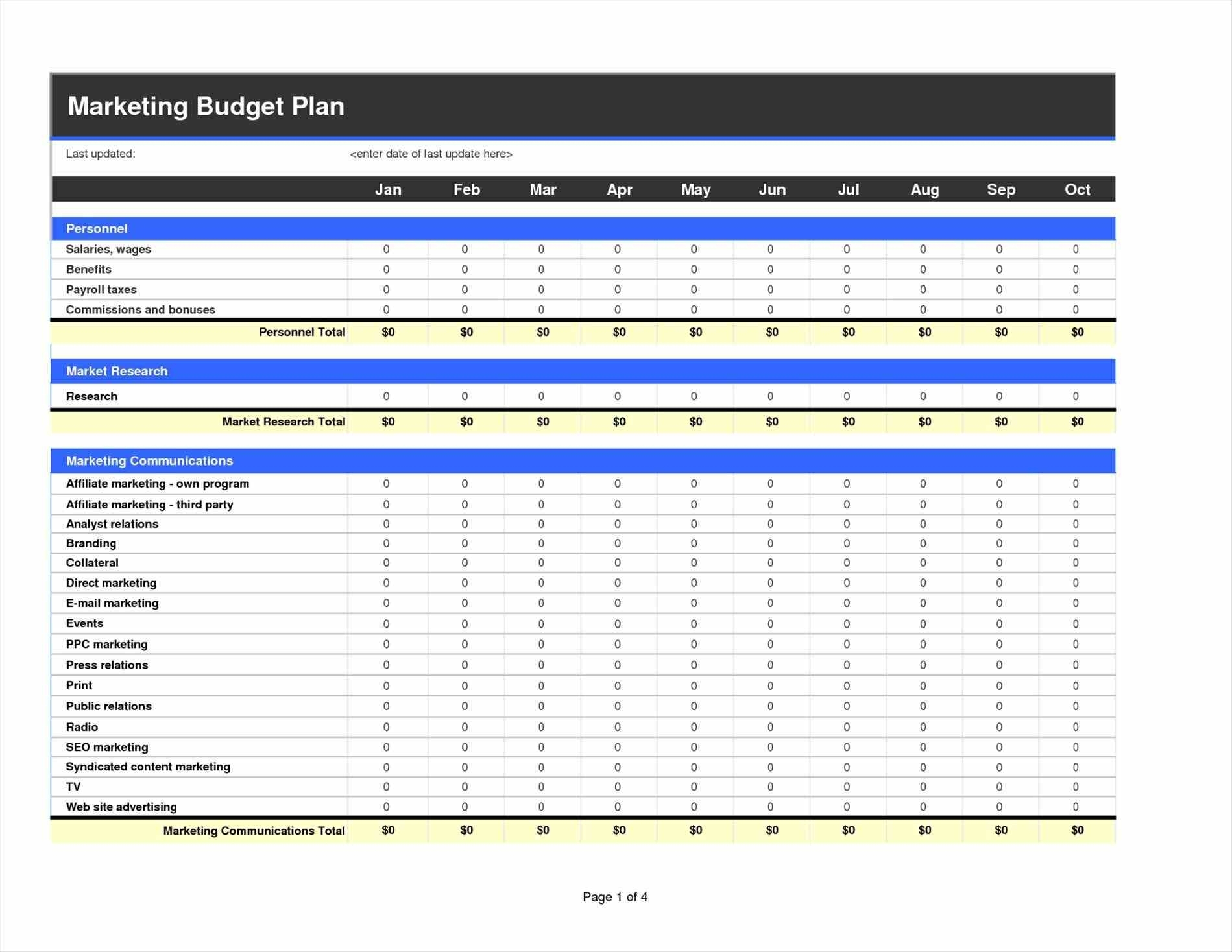 Marketing Budget Template Excel | Exltemplates To Marketing With Marketing Spreadsheet Template