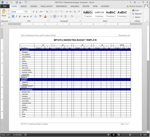 Marketing Budget Worksheet Template With Sample Household Budget Spreadsheet