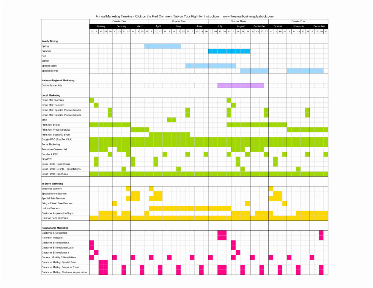 Marketing Campaign Calendar Template Excel Example of ...