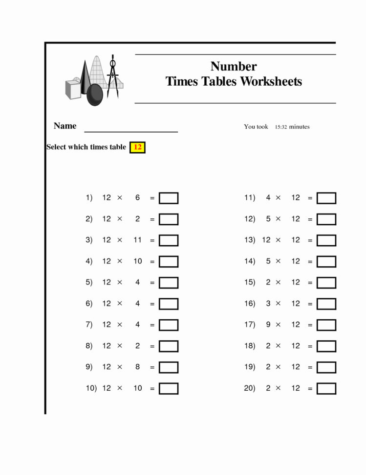 Math Multiplication Worksheet Generator | Download Them And Try To Solve With Worksheet Generator