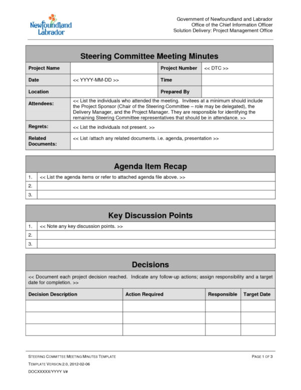 Meeting Agenda Template Doc Best Templates Project Management Intended For Project Management Meeting Templates