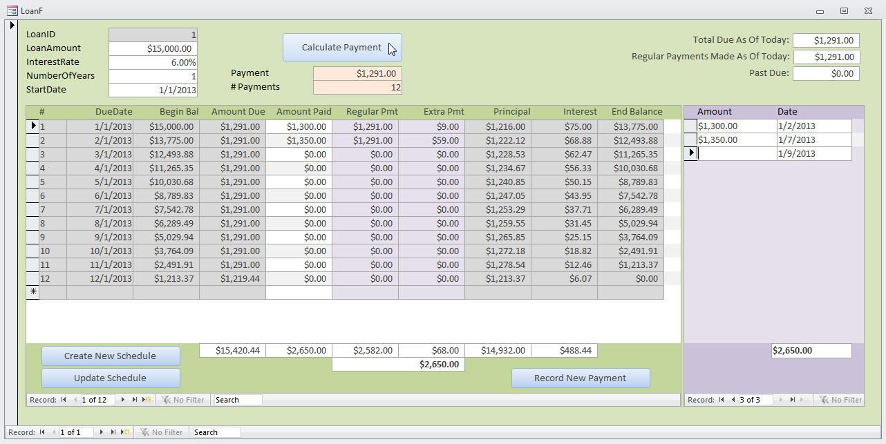 Microsoft Access Loan Amortization Template With Loan Amortization Spreadsheet