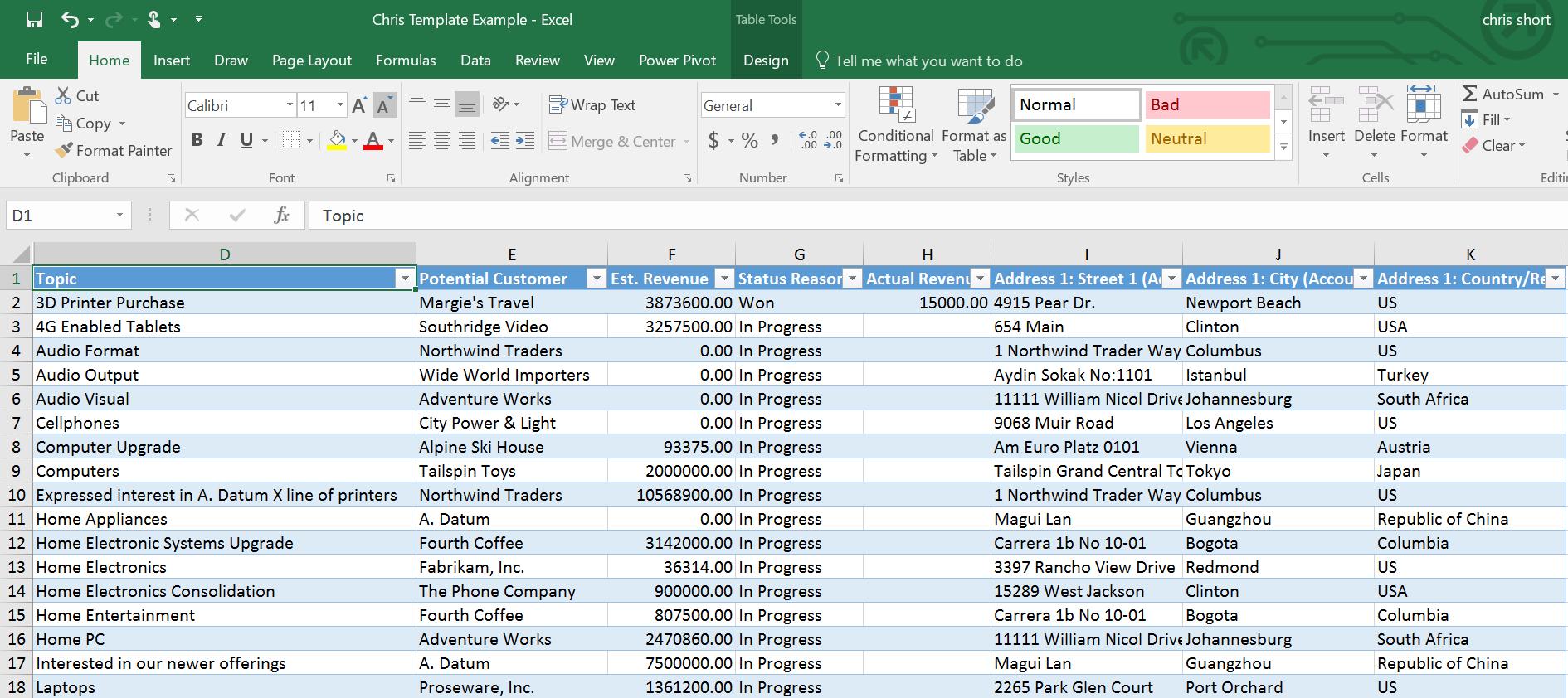 Microsoft Dynamics Crm & Microsoft Excel: Excel Templates, An In Dynamics Crm Excel Templates
