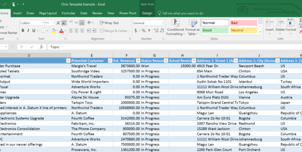 Microsoft Dynamics Crm & Microsoft Excel: Excel Templates, An With Excel Crm Template Software