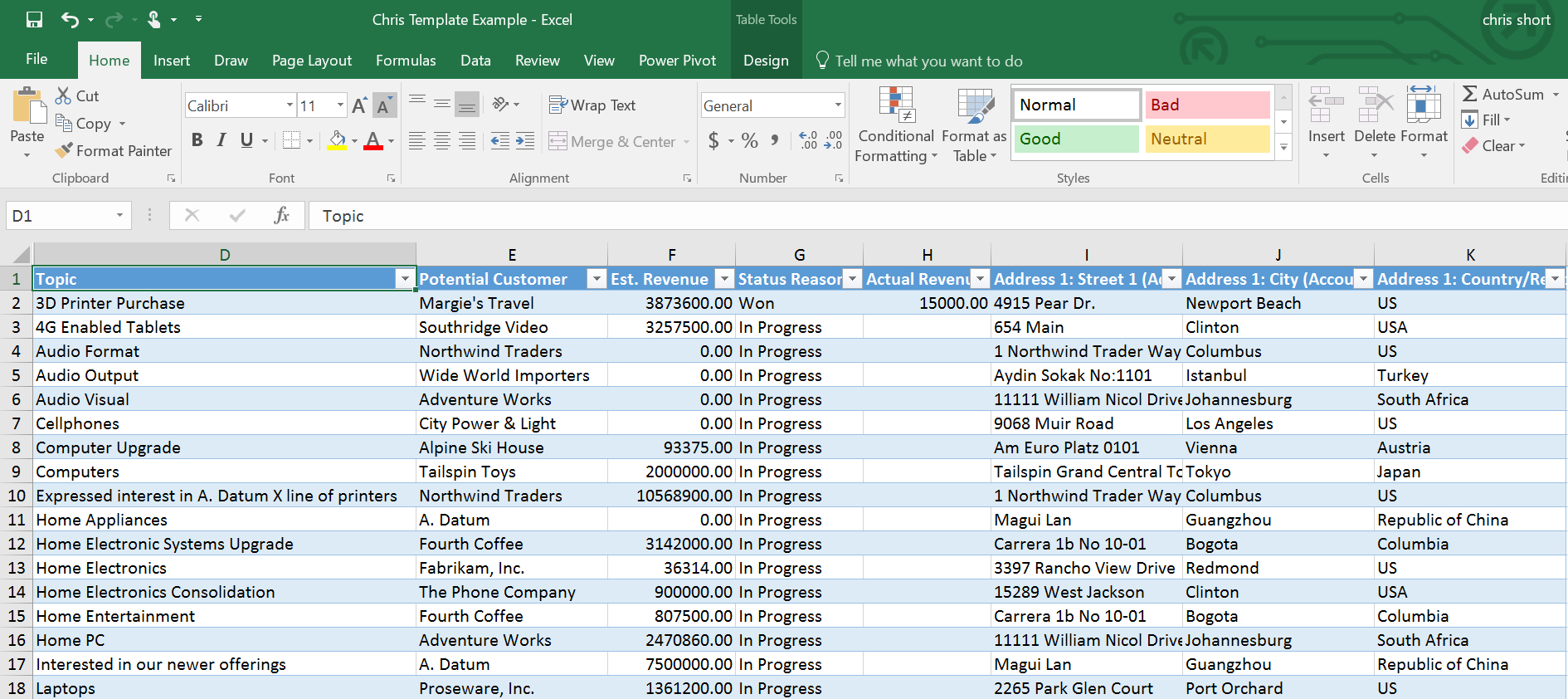 Microsoft Dynamics Crm & Microsoft Excel: Excel Templates, An Within Excel Crm Template Format