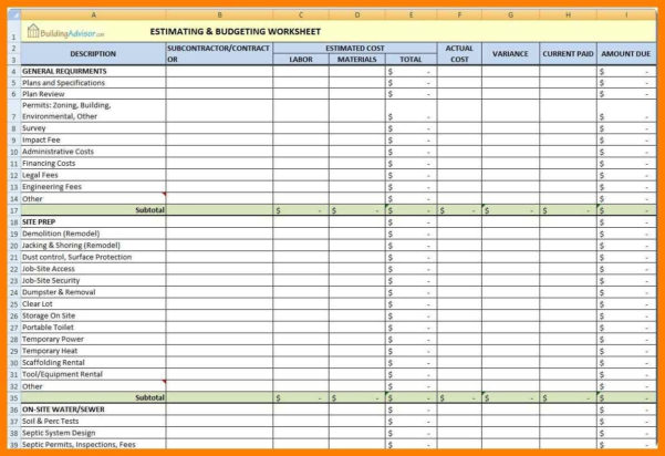 Microsoft Excel Estimate Template ] | Cost Estimate Template Word For Construction Estimating Templates For Excel Free