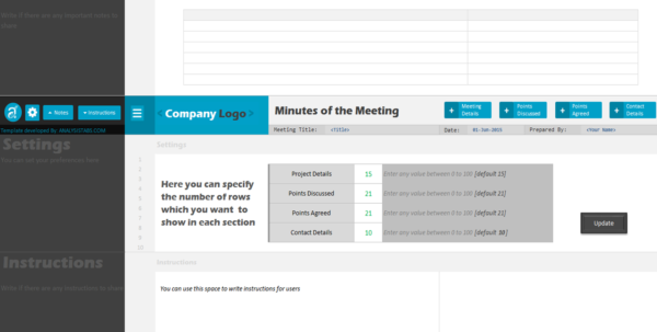 Minutes Of Meeting Project Management Template Within Project Management Meeting Templates