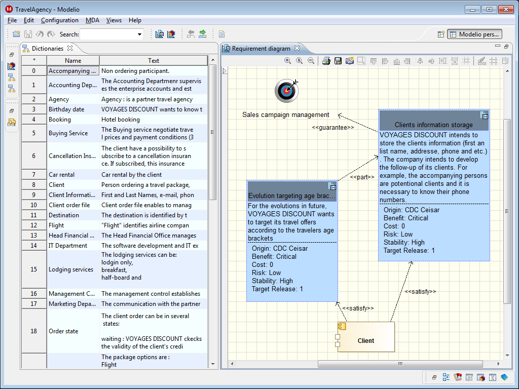 Modeliosoft   Integrated Requirements And Vision Support Inside Requirements Spreadsheet Template