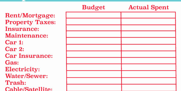 Monthly Budget Excel Spreadsheet Template Spreadsheets Used In And Monthly Bills Spreadsheet Template