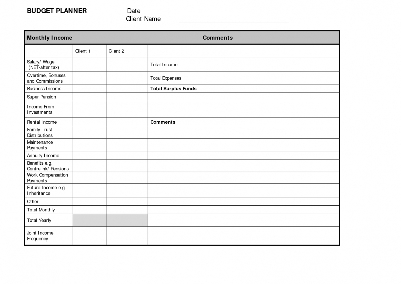 Monthly Budget Planner Template Free Download   Resourcesaver And Monthly Budget Planner Template Free Download