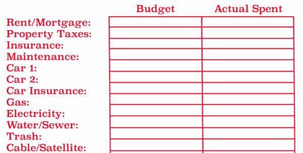 Monthly Budget Spreadsheet Dave Ramsey Inspirational Dave Ramsey Bud Intended For Monthly Budget Spreadsheet