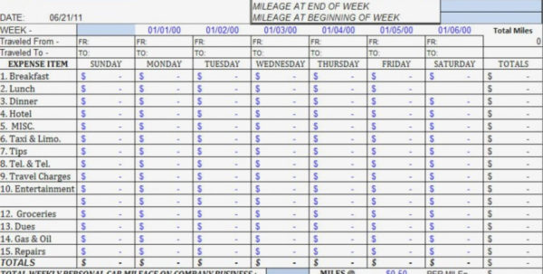 Monthly Business Expense Template Weekly Report And Sheet Sample 768 Inside Monthly Business Expense Template