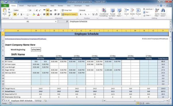 Monthly Employee Schedule Template Excel Work   Parttime Jobs With Monthly Employee Schedule Template Excel