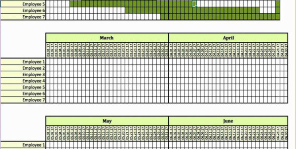 Monthly Employee Work Schedule Template Excel And Project 1024X802 Intended For Monthly Employee Schedule Template