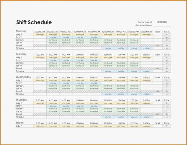 Monthly Employee Work Schedule Template Excel Plan Format Staff To Monthly Work Schedule Template