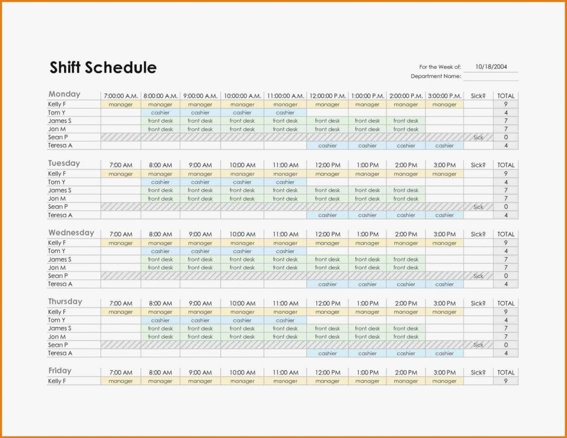 Monthly Employee Work Schedule Template Excel Plan Format Staff To Monthly Work Schedule Template