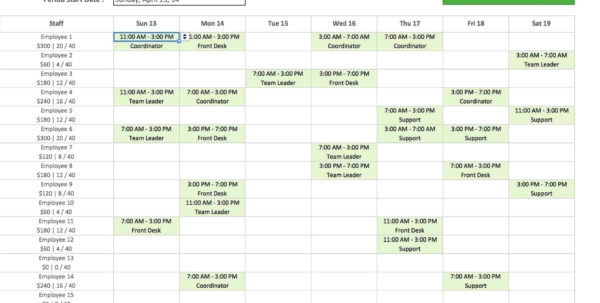 Monthly Employee Work Schedule Template Excel | Yourbody Ua Throughout Monthly Staff Schedule Template