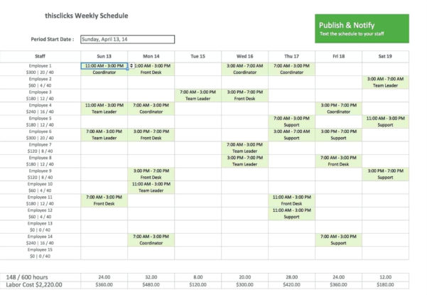 Monthly Employee Work Schedule Template Excel | Yourbody Ua Throughout Monthly Work Plan Template Excel