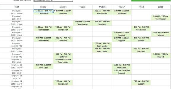 Monthly Employee Work Schedule Template Excel | Yourbody Ua With Monthly Employee Schedule Template