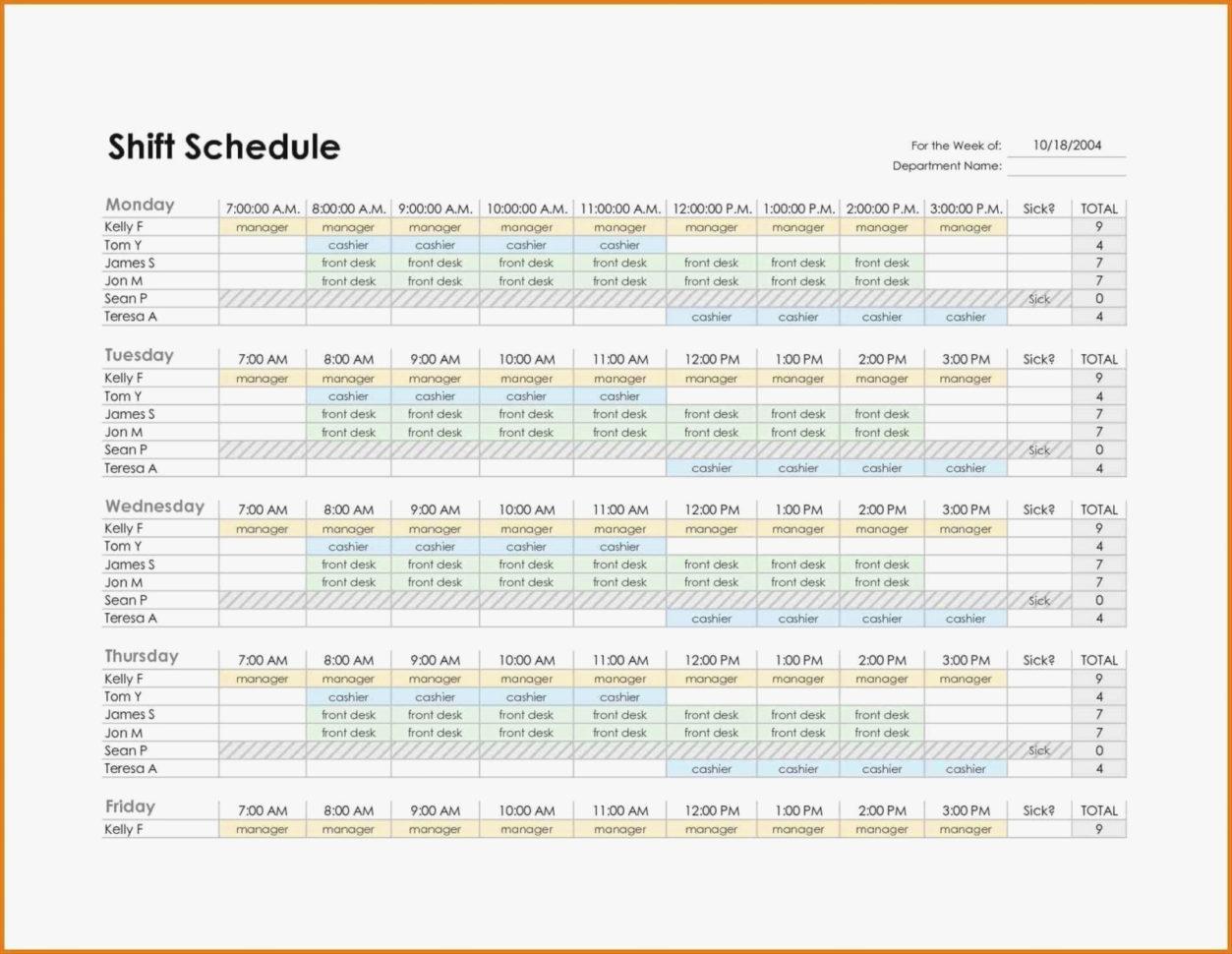 Monthly Employee Work Schedule Template Weekly Templates Excel With Monthly Employee Schedule Template Excel