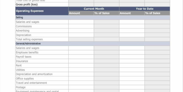 Monthly Financial Statements Templates For Excel Income Statement To Intended For Monthly Financial Report Format In Excel