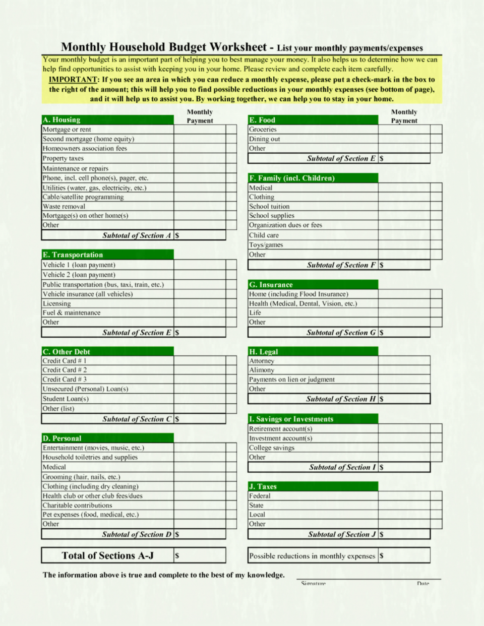 Monthly Household Budget Worksheet Best Photos Of Sample Home In Sample Household Budget Spreadsheet