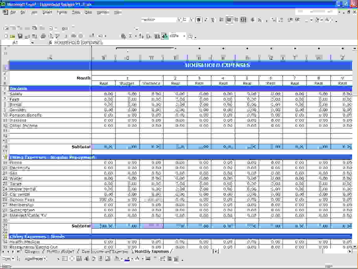 Ms Excel Budget Spreadsheet   Durun.ugrasgrup And Excel Spreadsheet Templates For Budget
