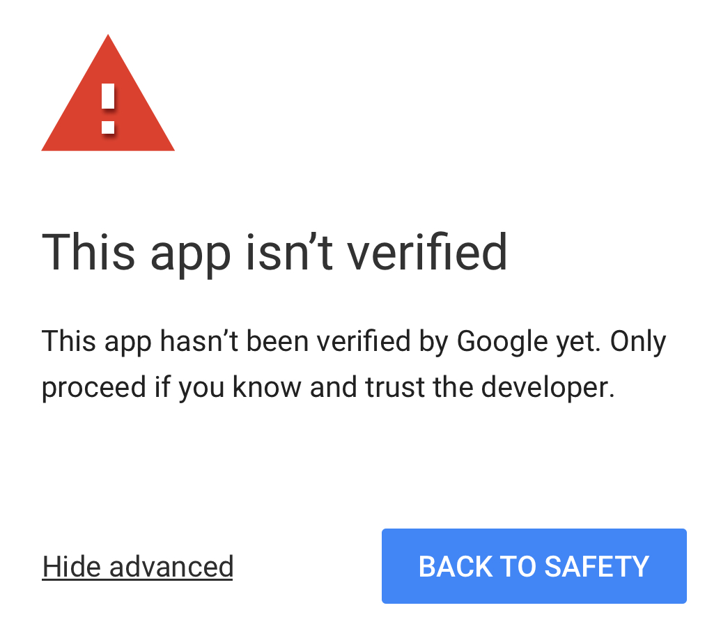 My Google Apps Script App Isn't Verified: Understanding Why And How For Google Spreadsheet If