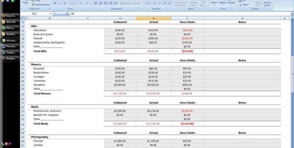 New Wedding Planning Spreadsheetlate Luxury Creative Of Software For Wedding Planning Spreadsheet Template