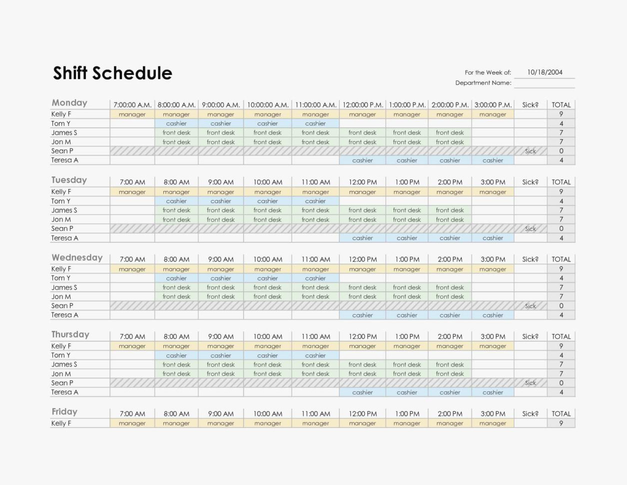 New Weekly Employee Work Schedule Template Excel Kinoweb Org Inside Employee Weekly Schedule Template Excel