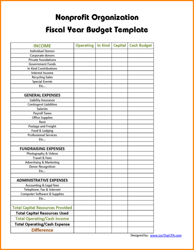 Non Profit Budget Template Excel | My Spreadsheet Templates Inside Profit Spreadsheet Template