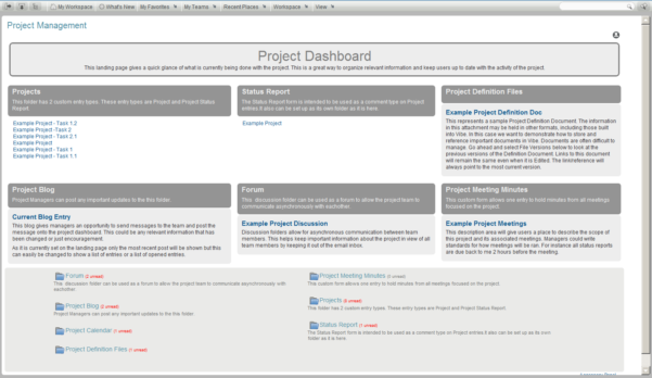 Novell Vibe | Project Management Template Inside Project Management Website Templates