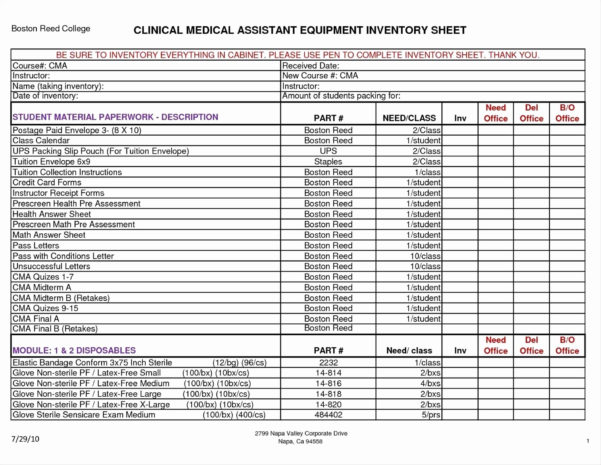 Office Supplies Inventory Template Awesome Data Center Inventory With Supply Inventory Spreadsheet Template
