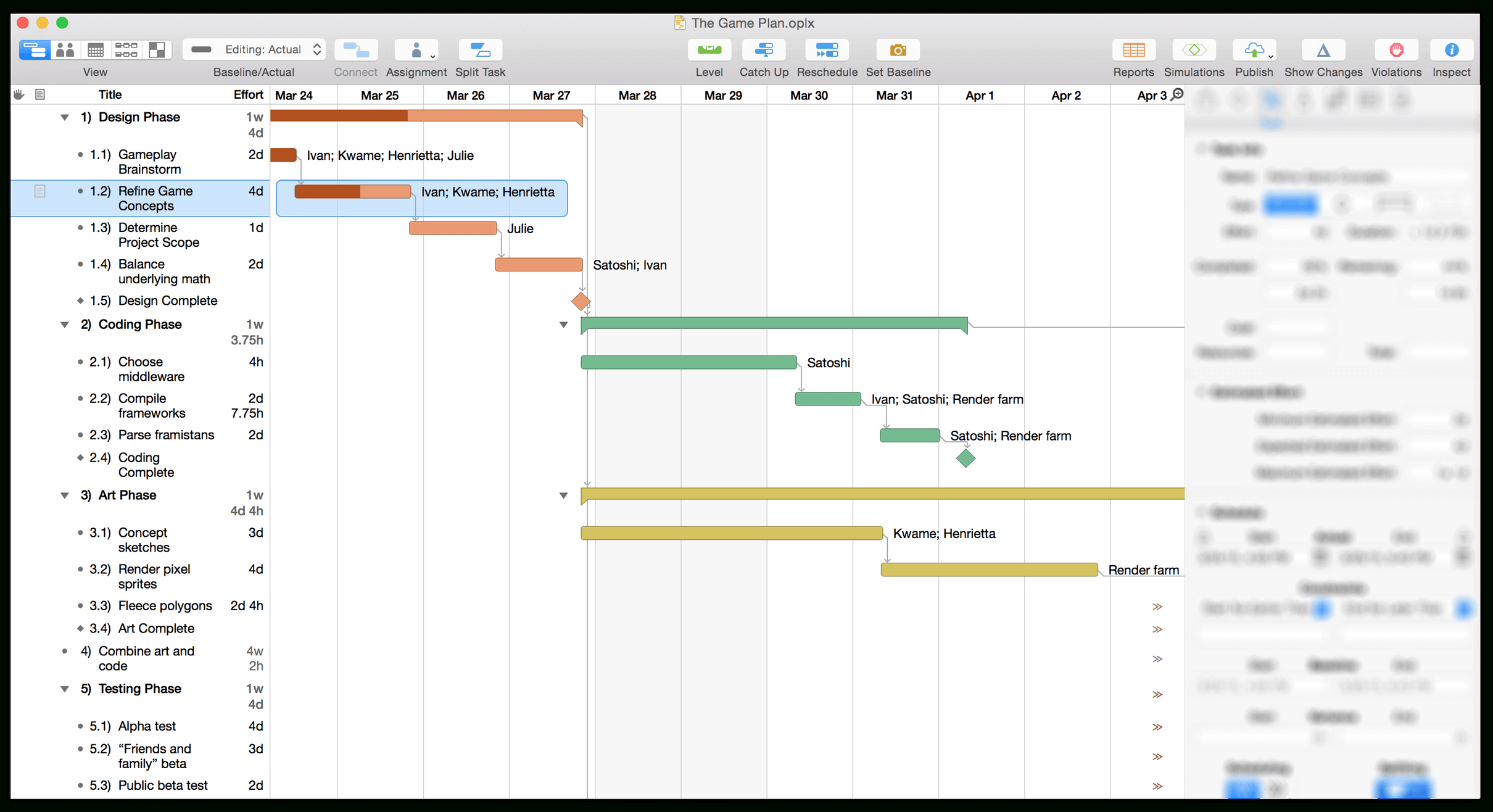 Omniplan 3 For Mac User Manual   Getting To Know Omniplan Within Gantt Chart Template Mac