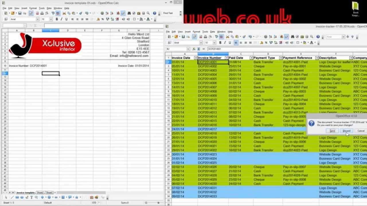 Open Office Spreadsheet Formulas List | Homebiz4U2Profit In Office Bookkeeping Template
