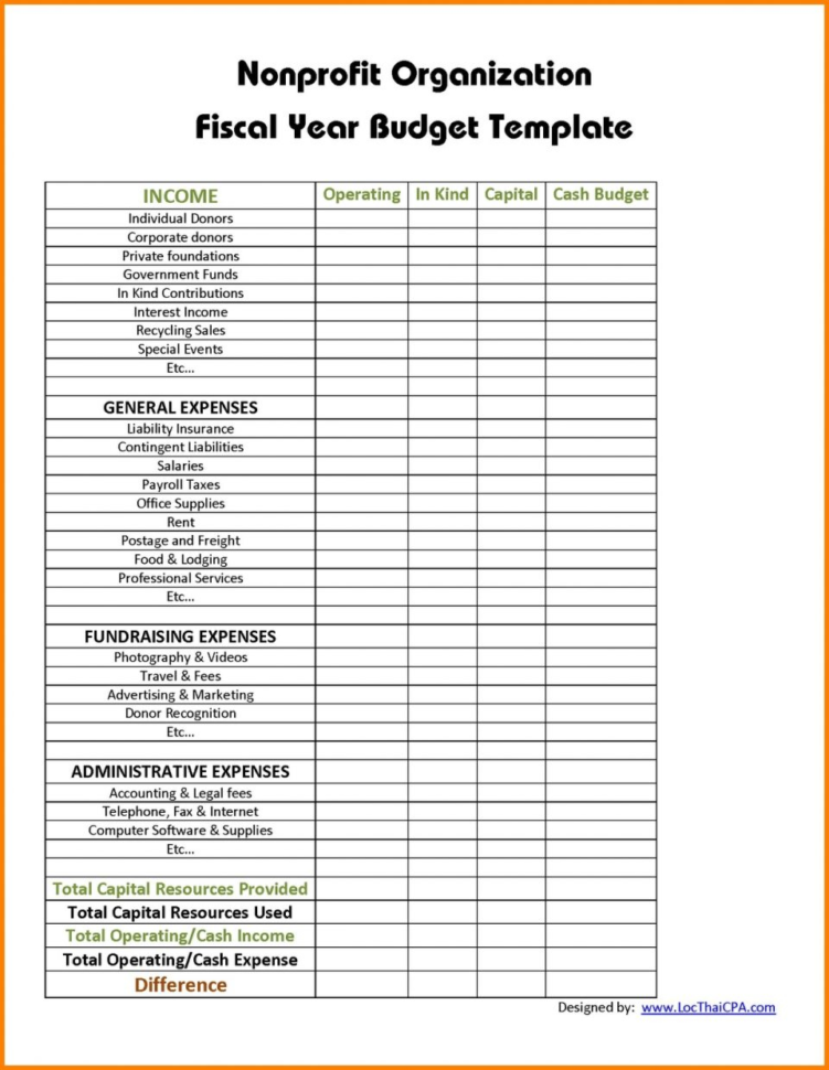Operatingudget Template Non Profit Selo L Ink Co Example Of With Sample Of Spreadsheet