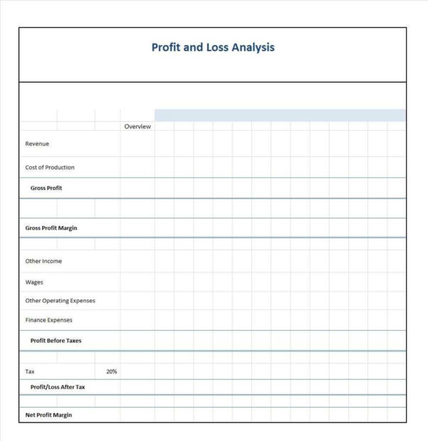 P & L Statement Template | Sosfuer Spreadsheet With Simple Profit And Loss Statement Template For Self Employed